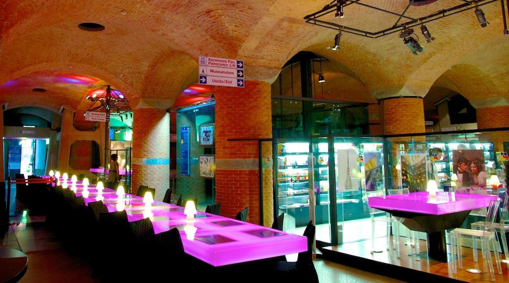 Mole Antonelliana qui includes dîner en ville et vues intérieures