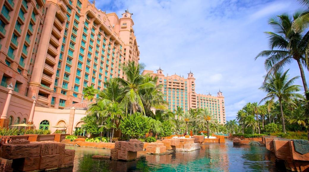 Atlantis Aquarium featuring marine life and a pool