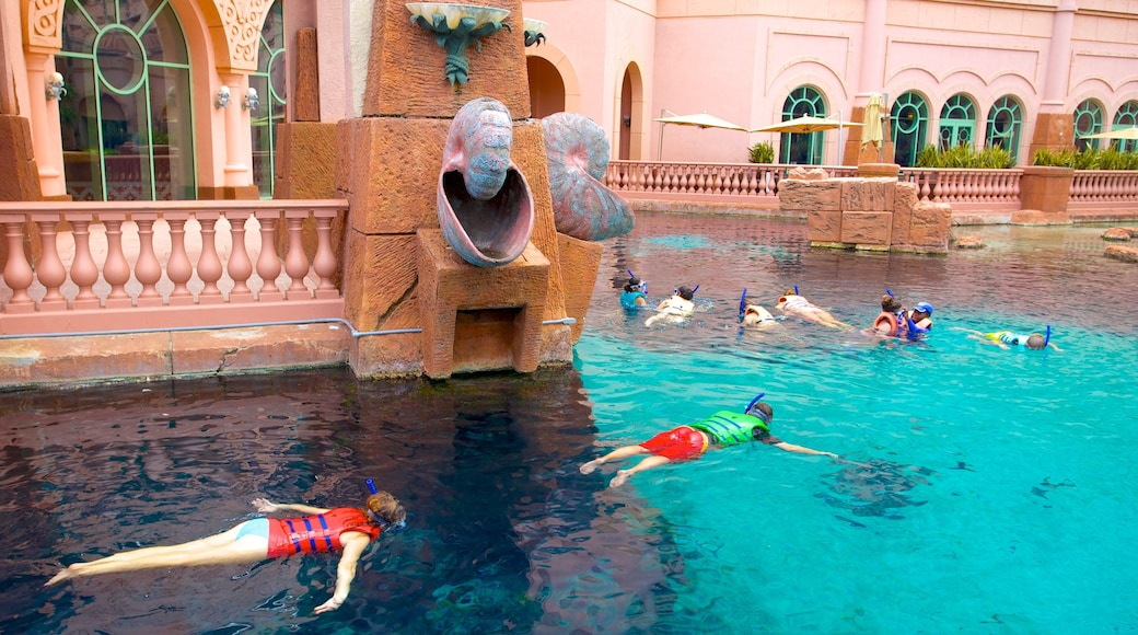 Atlantis Aquarium which includes a pool, snorkelling and marine life