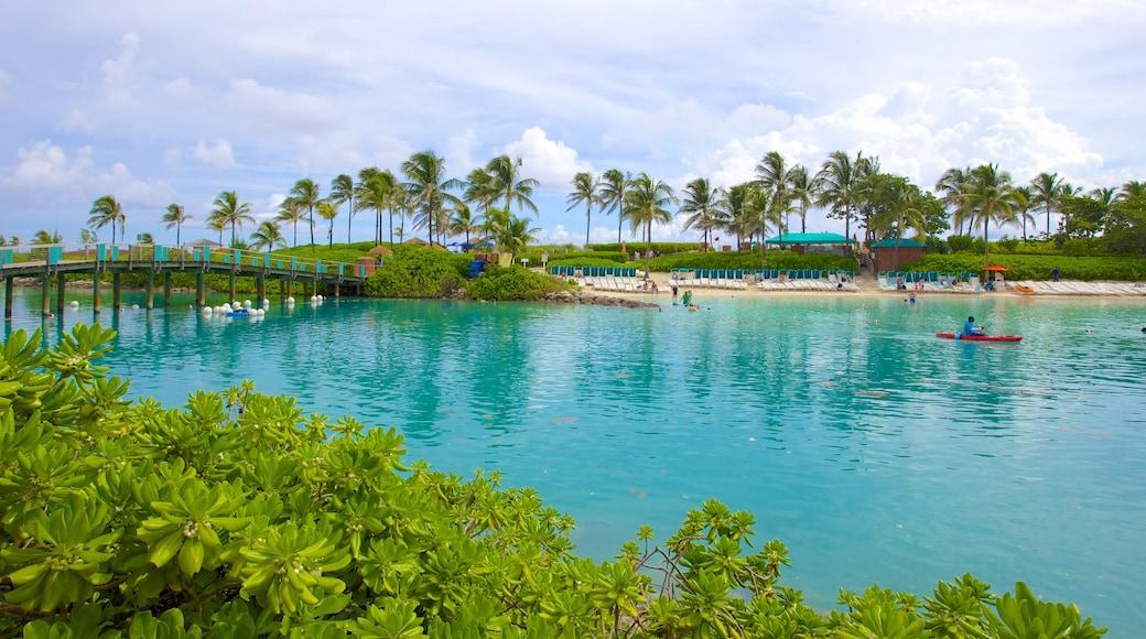 Aquaventure featuring kayaking or canoeing, a bridge and a lake or waterhole