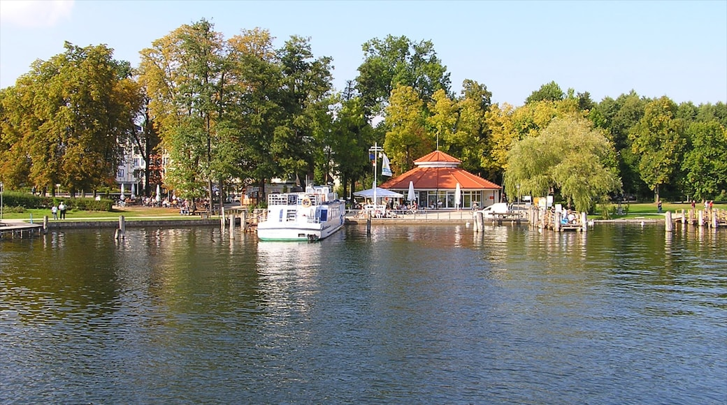 Bad Saarow which includes a lake or waterhole, a park and boating