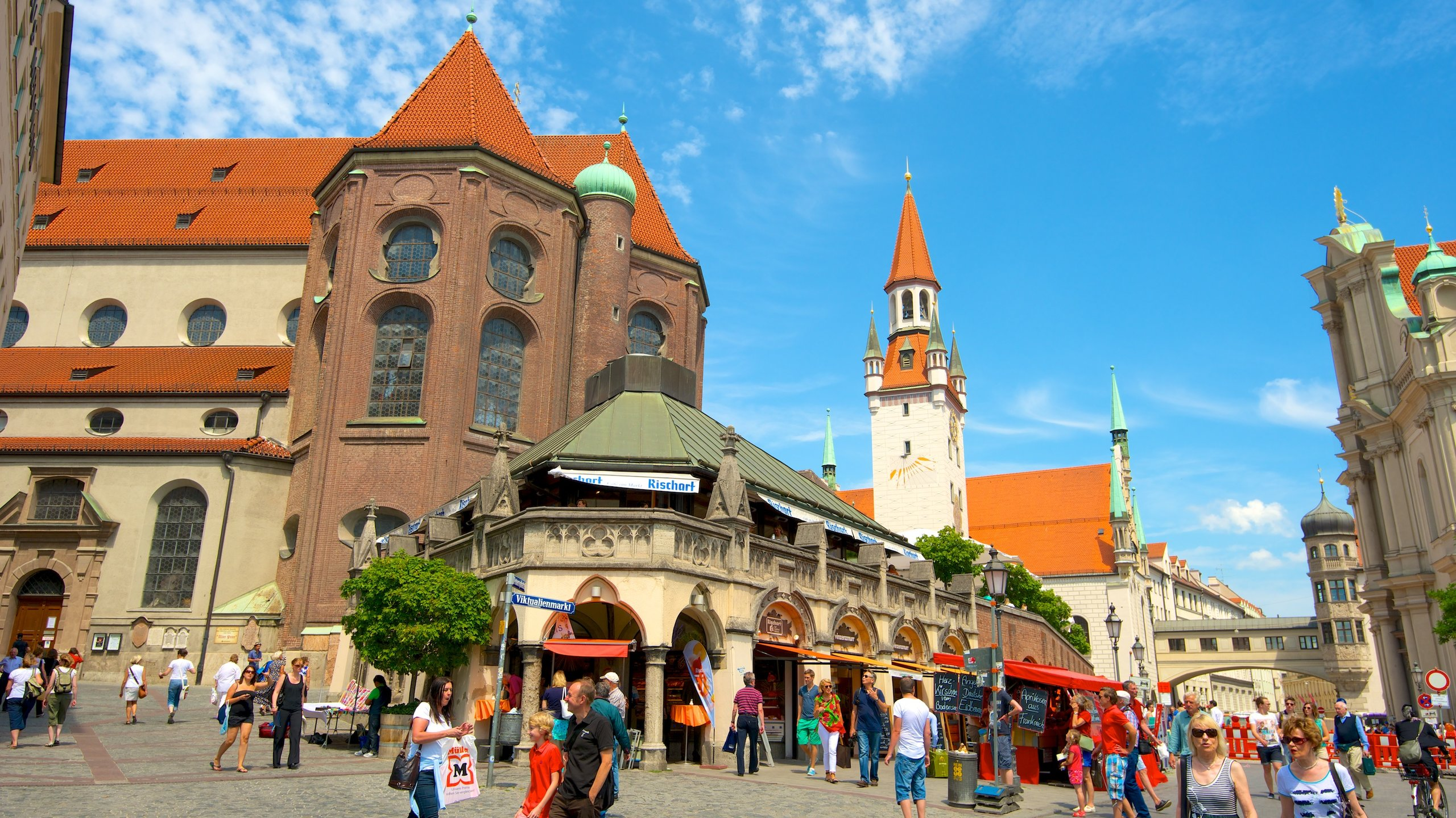Viktualienmarkt, Monachium, Bawaria, Niemcy