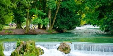Englischer Garten mettant en vedette parc et rivière ou ruisseau