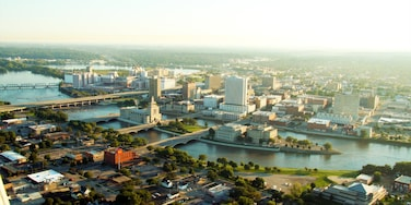 Cedar Rapids featuring a river or creek, modern architecture and skyline