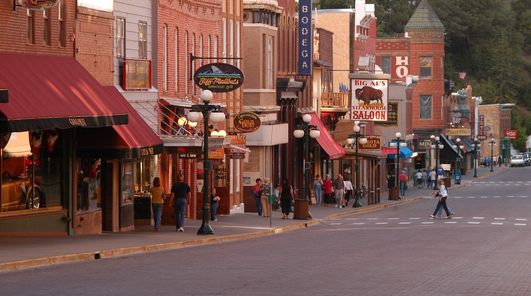 Deadwood showing street scenes and a small town or village