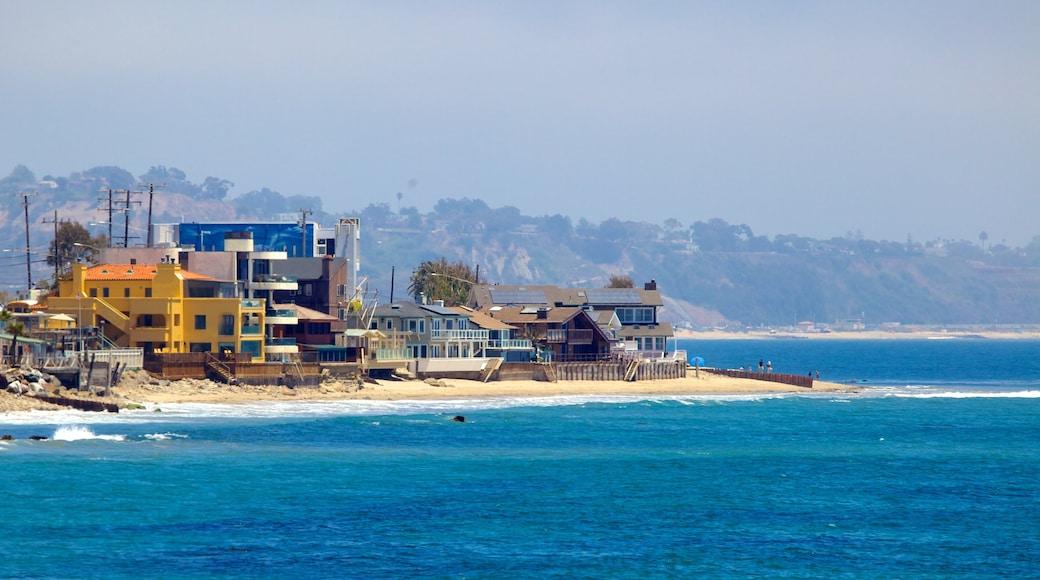 Malibu which includes general coastal views and a coastal town