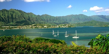 Kaneohe which includes general coastal views, sailing and landscape views