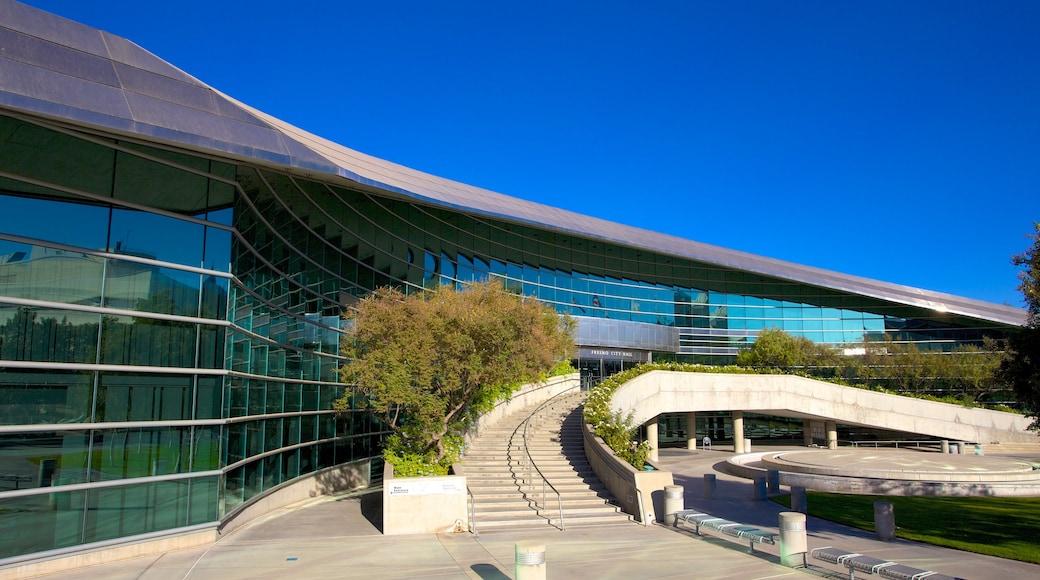 Fresno que inclui arquitetura moderna
