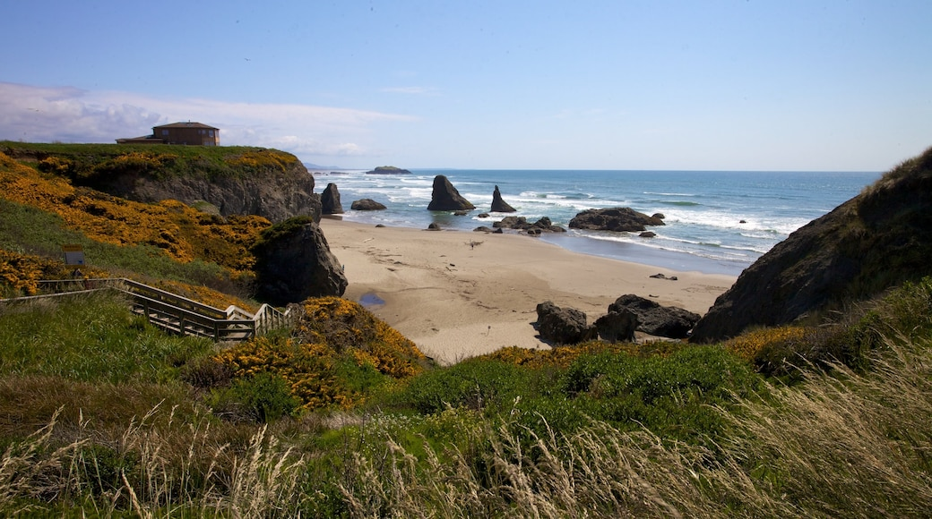 Bandon which includes landscape views and a beach