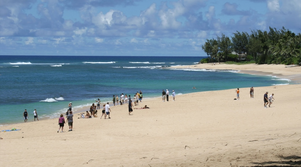 Sunset Beach which includes a coastal town, tropical scenes and landscape views