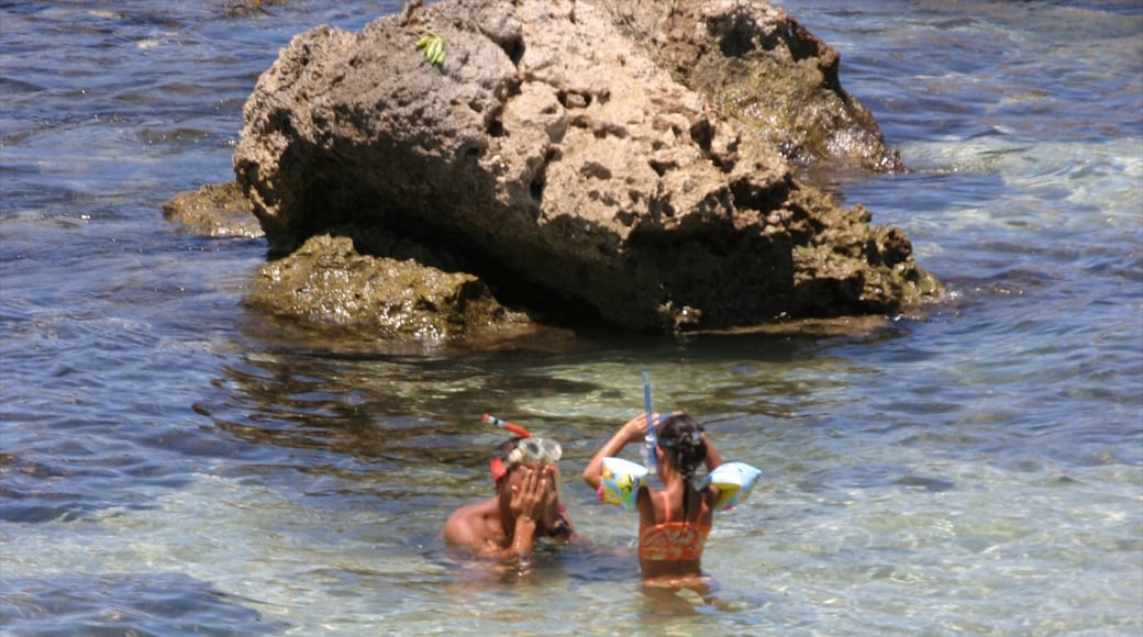 Pupukea Beach Park showing swimming, landscape views and snorkeling