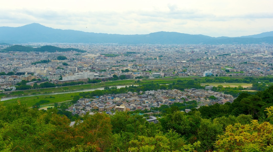 Kyōto showing mountains and a city