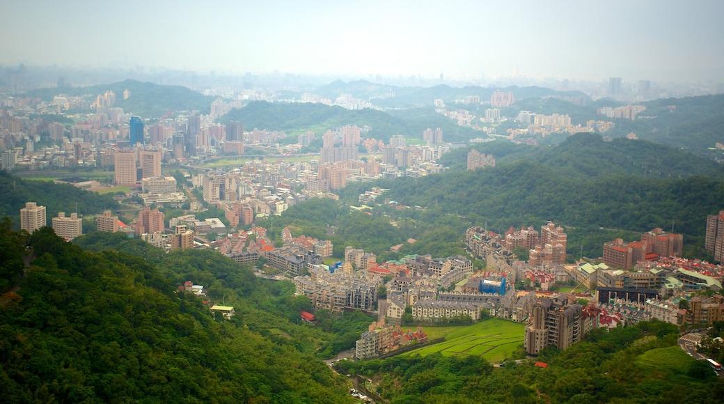 Maokong Gondola showing a city