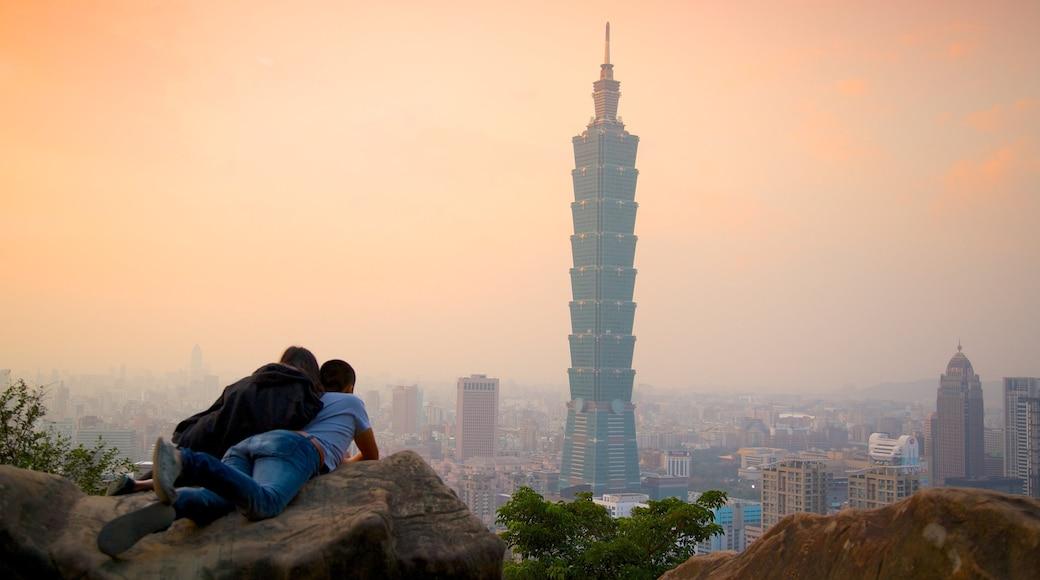 台北 101 呈现出 高樓大廈, 城市 和 現代建築
