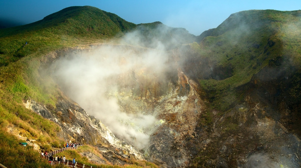Yangmingshan Nationalpark mit einem Landschaften, Berge und Nebel
