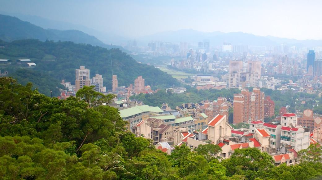Maokong Gondola เนื้อเรื่องที่ อาคารสูง, ภูเขา และ เมือง