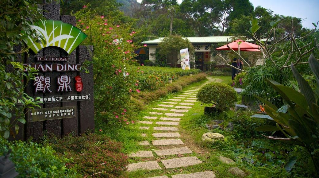 Taipeh welches beinhaltet Garten und Beschilderung