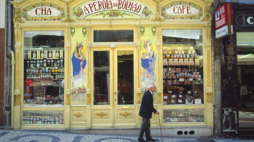 Porto som inkluderer shopping, by og skilt