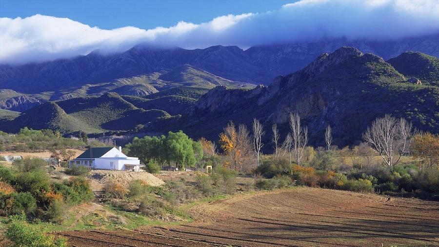 Oudtshoorn ofreciendo vistas de paisajes, montañas y escenas tranquilas