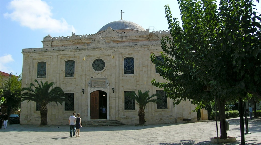 Heraklion which includes religious elements, a city and a church or cathedral