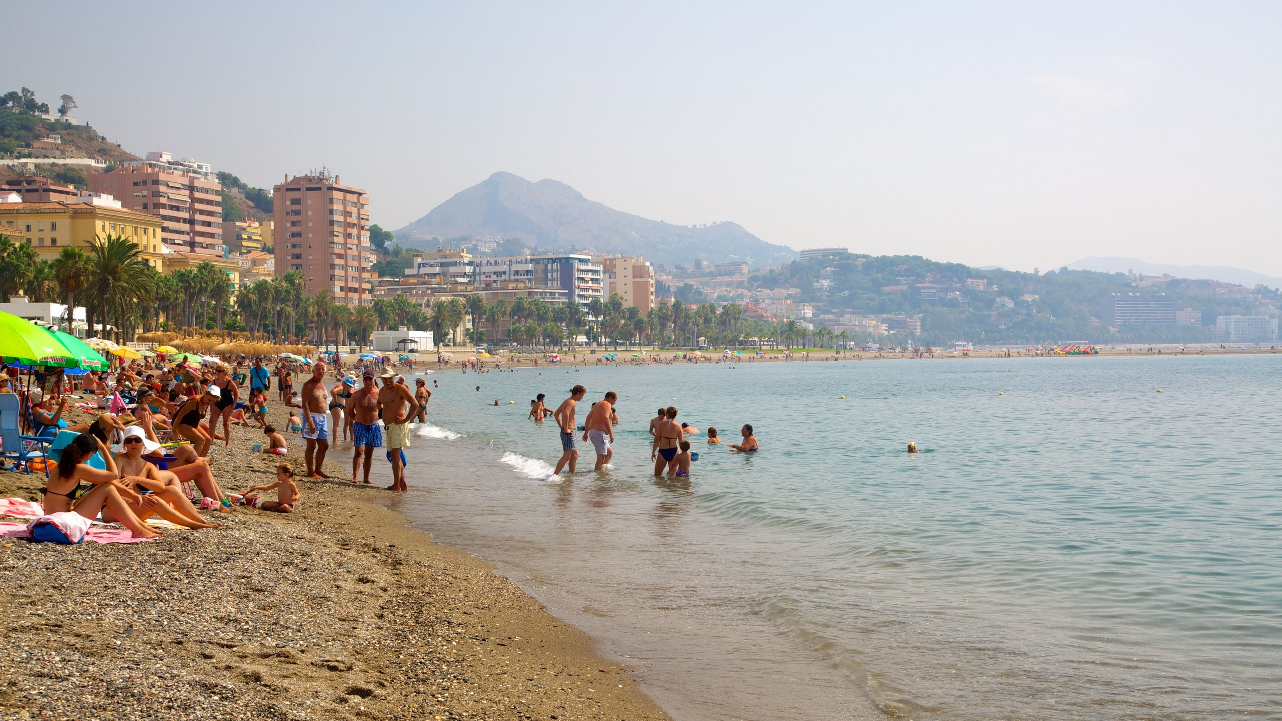 Malagueta Beach, Málaga, Spain