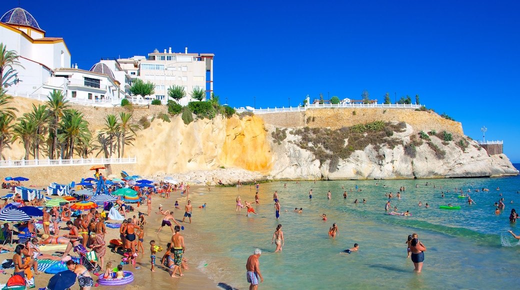 Benidorm qui includes baignade, plage de sable et ville côtière