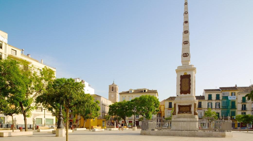 Plaza de la Merced welches beinhaltet Monument, Outdoor-Kunst und Stadt