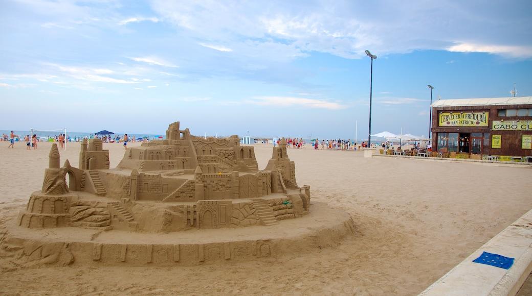 Playa de la Malvarrosa das einen Strand