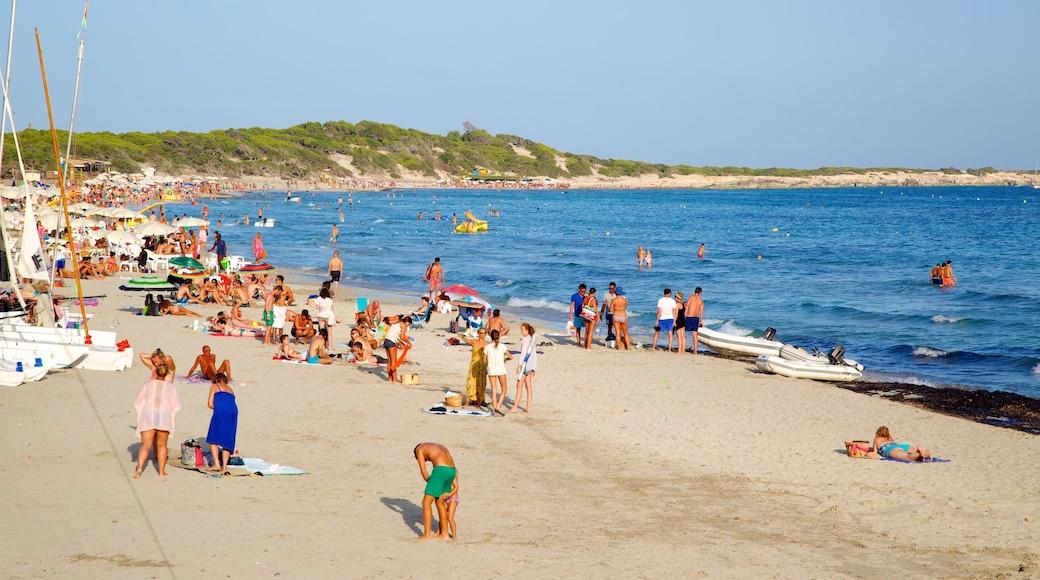Spiaggia di Las Salinas che include paesaggio tropicale, nuoto e spiaggia