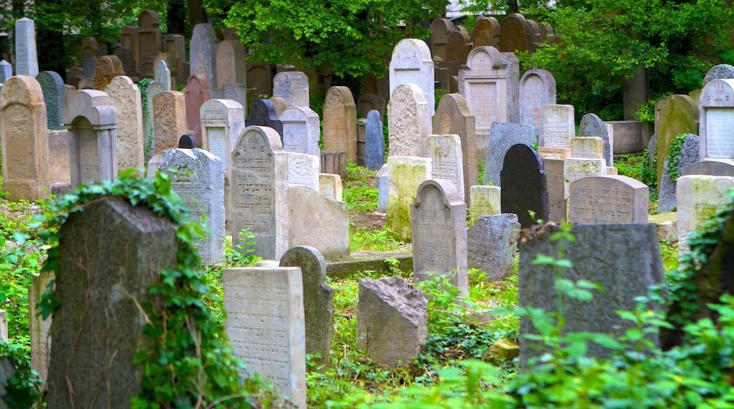 Cracovia mostrando un monumento conmemorativo y un cementerio