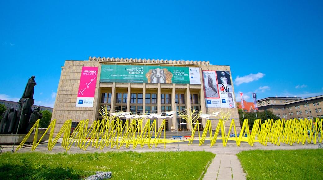 Krakau mit einem Stadt, Beschilderung und moderne Architektur
