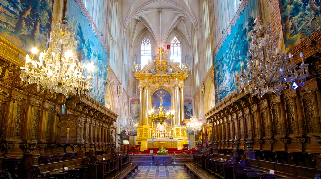 Wawel Cathedral which includes religious elements, art and interior views