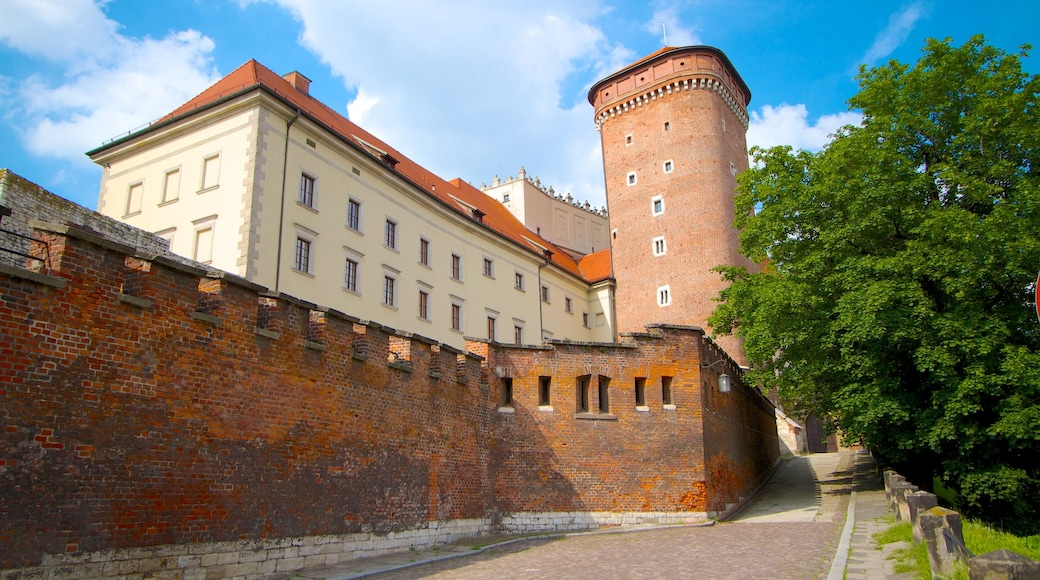 Wawel Castle which includes heritage architecture, a castle and a city