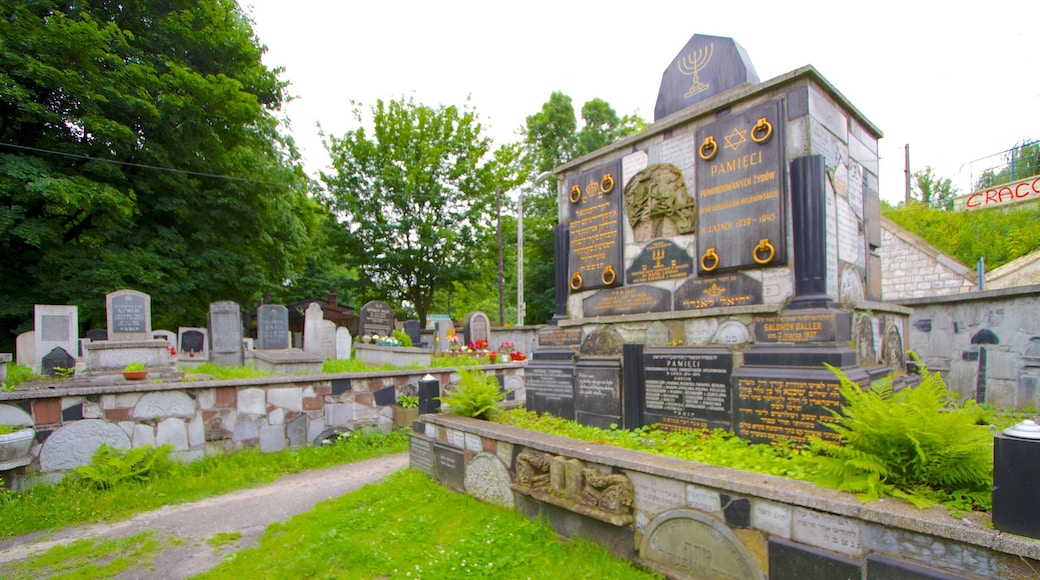 Cementerio judío mostrando un cementerio y aspectos religiosos