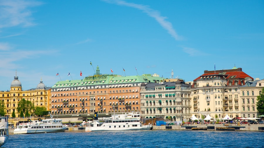 Stockholm which includes boating, a bay or harbor and a marina