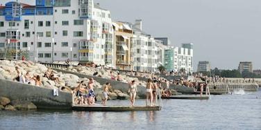 Malmö presenterar bad, en kuststad och klippig kustlinje