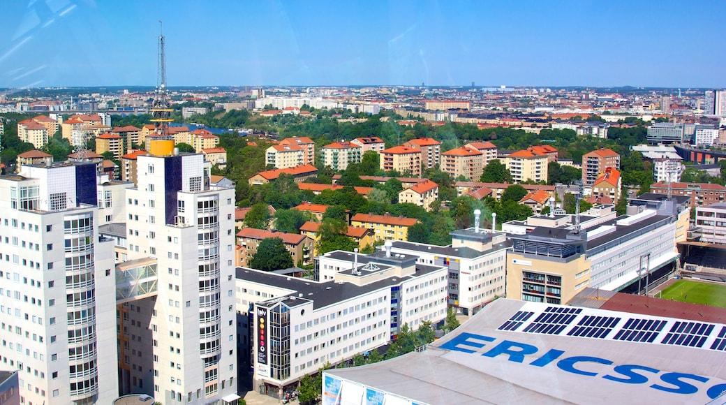 Estocolmo mostrando una ciudad, horizonte urbano y distrito financiero