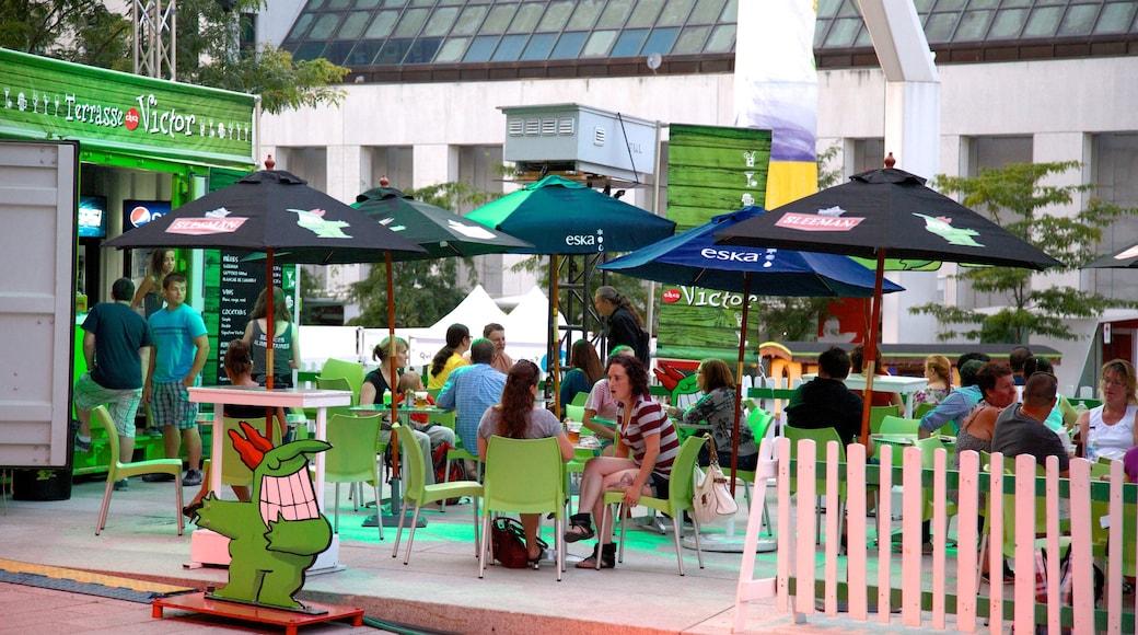 Montreal Innenstadt das einen Essen im Freien, Stadt und Straßenszenen
