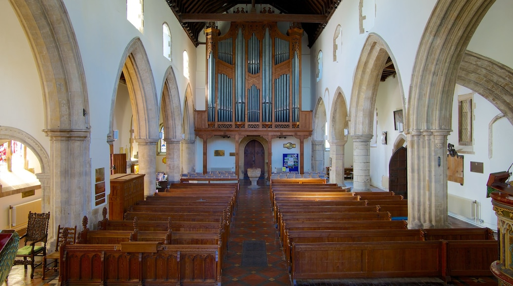 Hythe which includes heritage elements, religious elements and interior views