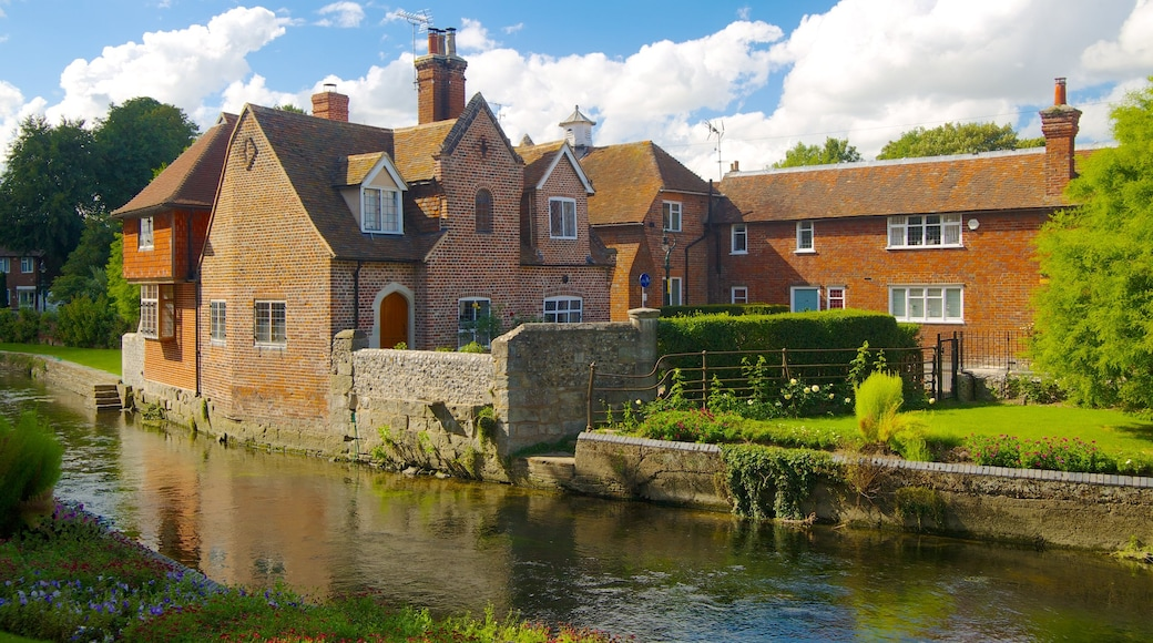 Canterbury which includes a house, a river or creek and heritage architecture
