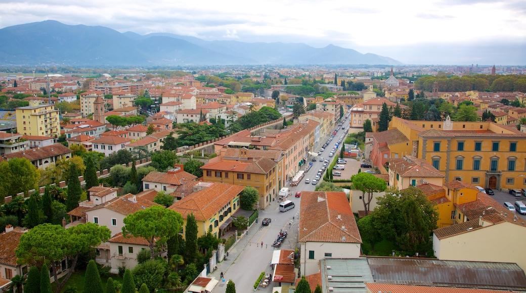 ปิซา เนื้อเรื่องที่ วิวเมือง, เมือง และ มรดกทางสถาปัตยกรรม