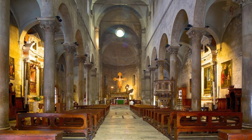 Piazza San Michele mostrando vista interna, architettura d\'epoca e chiesa o cattedrale