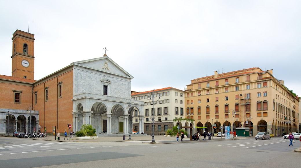 Palazzo Grande mit einem Straßenszenen, historische Architektur und Stadt