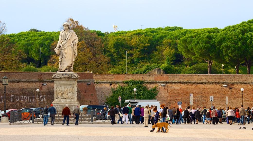 Piazza della Repubblica mit einem Statue oder Skulptur, Platz oder Plaza und Stadt