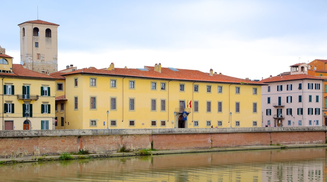 Pisa Royal Palace showing a castle, heritage architecture and a city