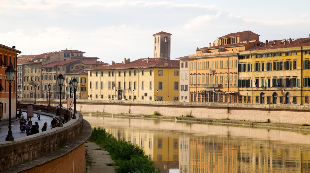 Pisa featuring heritage architecture, a river or creek and a city