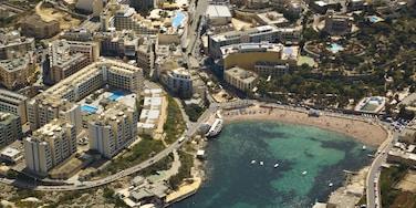 St. Julian\'s which includes a city, a beach and a coastal town