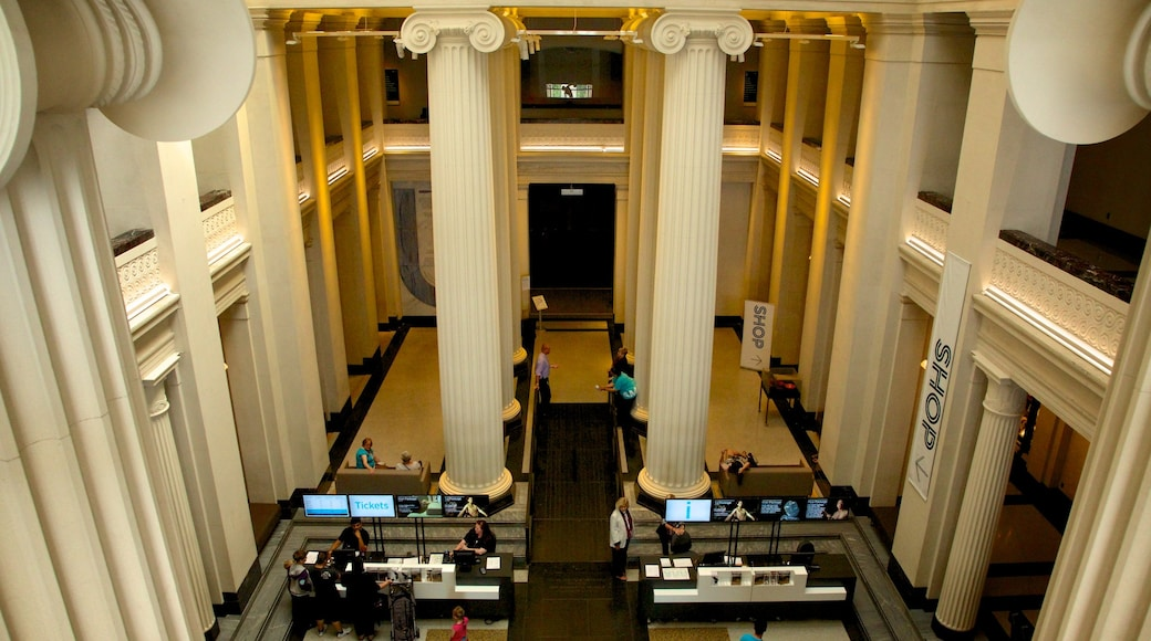 Auckland War Memorial Museum which includes heritage architecture, interior views and a memorial