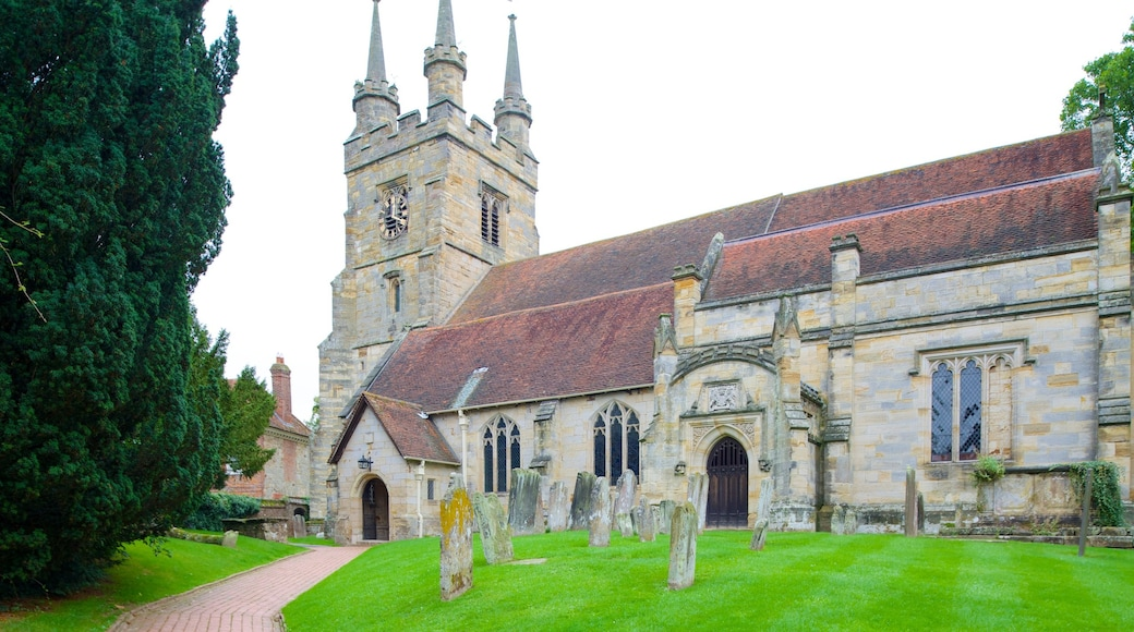 Tonbridge featuring a church or cathedral, a castle and heritage elements