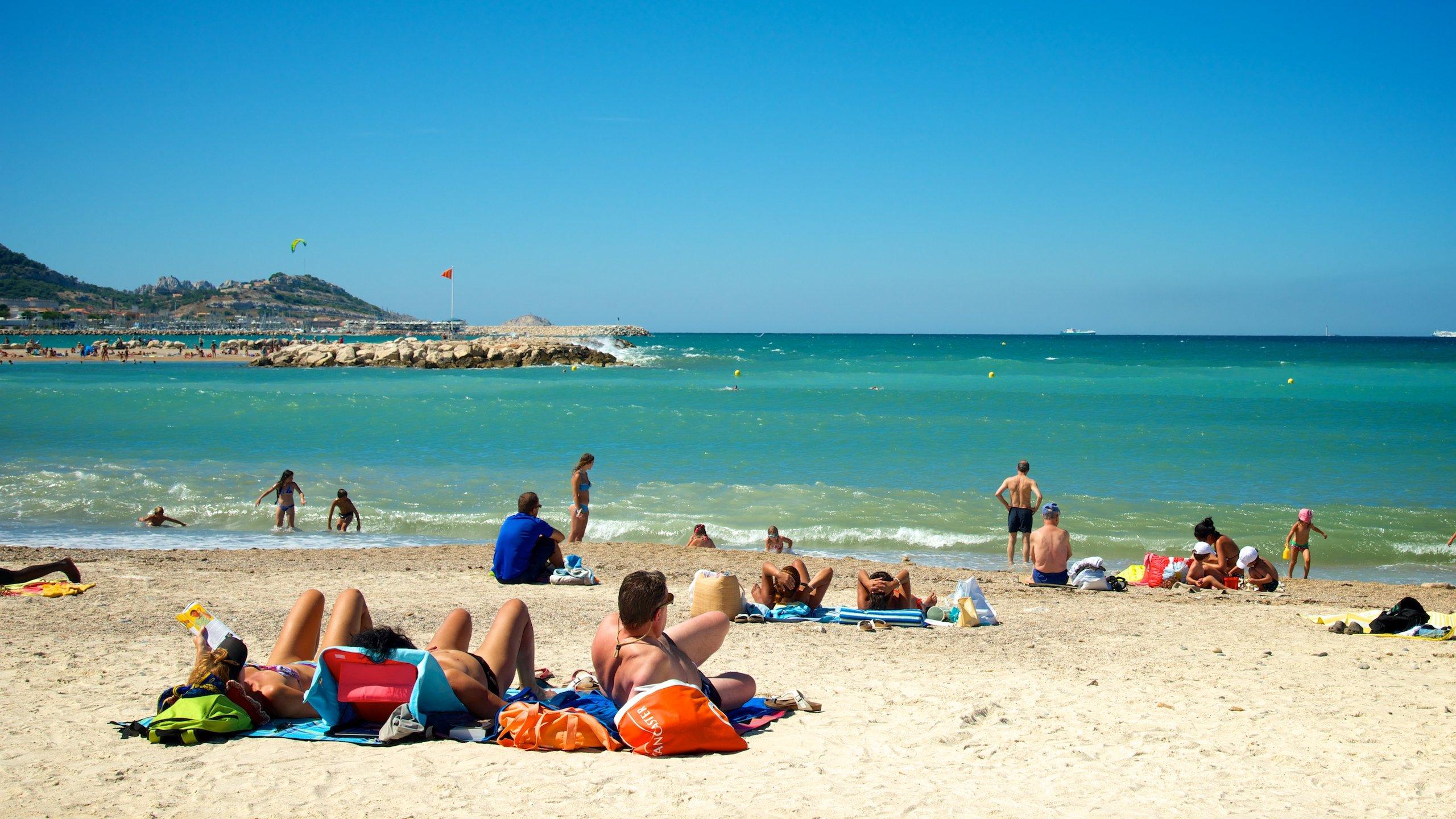 Borely Beach, Marseille, Bouches-du-Rhone, France